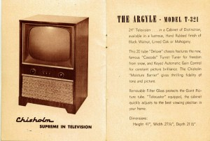 Photo of Brochure for The Argyle - Model T-321 Television