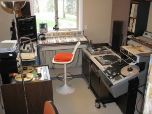 Photo of the Internet Radio Broadcast server studio that streams for the SPARC Radio Museum