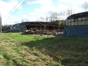Photo of the Chisholm plant demolition in 2010