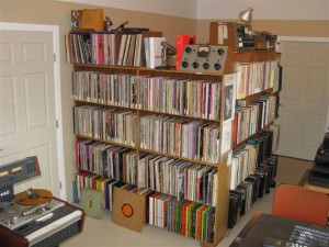 Photo of the Internet Radio Broadcast library that streams for the SPARC Radio Museum