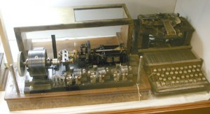 Photo of a signal regenerator and a perforator in the Bamfield collection