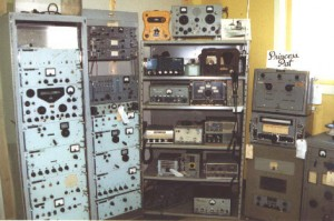 Photo of the Marine Radio collection at the SPARC Radio Museum
