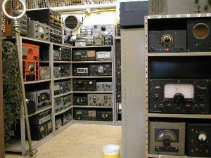 Photo of the Shortwave and Commercial Receivers collection at the SPARC Radio Museum