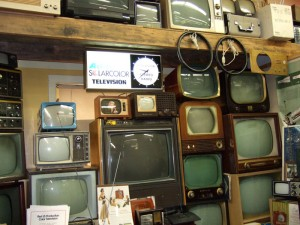 Photo of the vintage TV collection at the SPARC Radio Museum