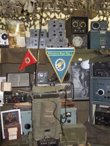Photo of the Military radio collection at the SPARC Radio Museum