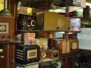Photo of part of the Broadcast Receiver collection at the SPARC Radio Museum