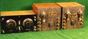 Photo of the vintage Marconi tuner, detector and amplifier used at the Bamfield station.