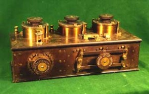 Photo of a Marconi triple turret tuner at the SPARC Radio Museum