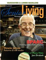Photo of Jack Watson on the cover of Senior Living magazine